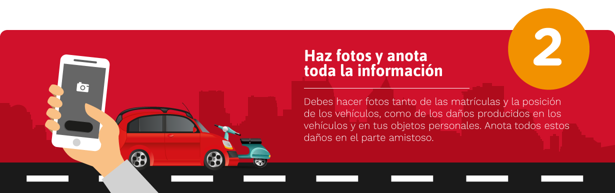 Pasos a seguir en caso de accidente